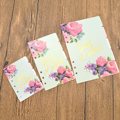 A5 A6 A7 Loose-leaf Colorful Flower Printing for Spring Binder Supplies 5 - Spring Flowers Coloring Pages