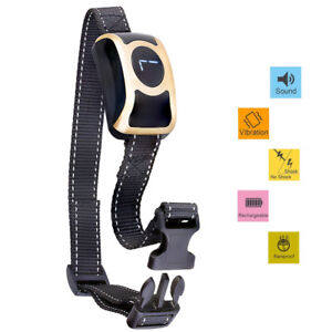 No Bark Collar Rechargeable/Rainproof/Sound/Vibrate/Safe shock