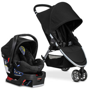 Britax B-Agile Stroller + B-Safe infant seat with base for car