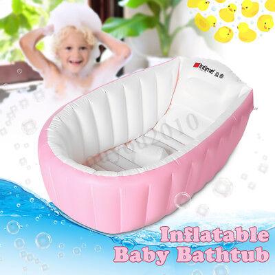 Tragbar Aufblasbare Badewanne Badesitz für Baby Kinder Bad Verdickung Falten DE
