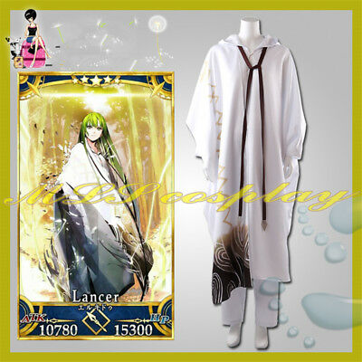 Fate/Grand Order Stage 3 Enkidu FGO Lancer Outfit Cosplay Costume Full Set Cloak (Order Cosplay)