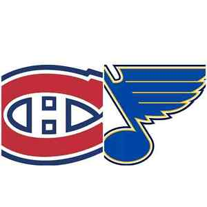 2 billets tix Canadiens Blues 11/02/17 rouges, 123, rangée W