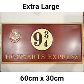 Harry Potter Metal Sign - Hogwarts Express Platform 9 3/4