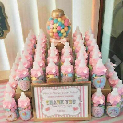 24 Fillable Bottles for Baby Shower Favors Blue Pink Party Decorations Girl Boy Bottle Shower Favors