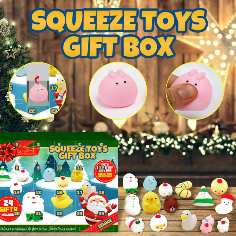 Animal Squishy Squeeze Toy Ore Christmas Advent Calendar 2020
