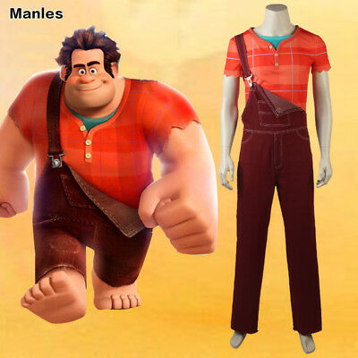 Ralph Breaks the Internet:Wreck-It Ralph 2 Costume Cosplay Cartoon Halloween ](Wreck It Ralph Halloween Costumes)