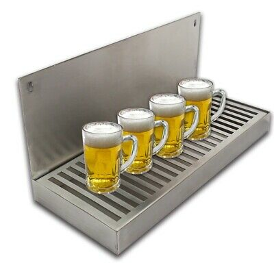 Beer Drip Tray Draft Craft Home Brewing Stainless Steel Cut Out Surface Mounted