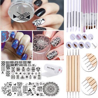 27Pcs Kit Born Pretty Nail Art Stamping Plate   Stamper   Scraper   Uv Gel Brush