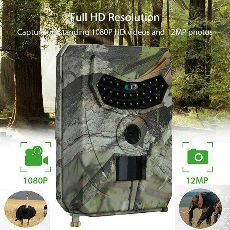 26-LED 1080P 12MP Night Vision Monitoring Trail Camera for W
