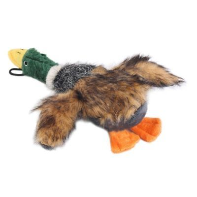 Mallard Squeaky Dog Toys for Aggressive Chewers Plush Stuffed Green Duck Toy