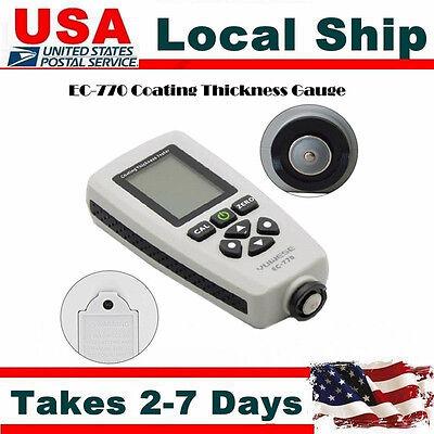 Lcd Digital Coating Thickness Gauge 0-1300um Paint Thickness Film Meter Tool