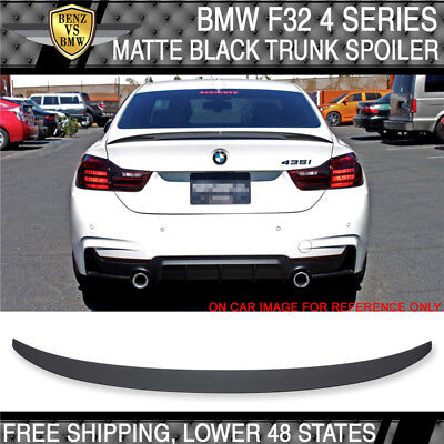 (14-17 BMW F32 4 Series P Style Rear Trunk Spoiler ABS Painted Matte Black)