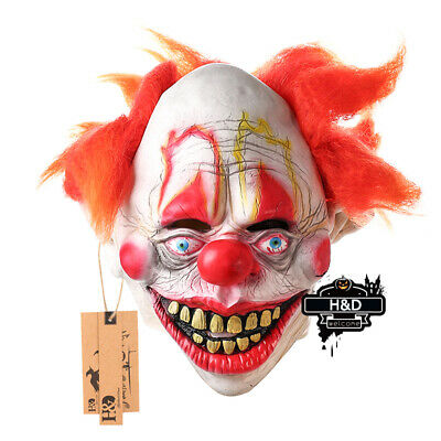 Freak Show Halloween Party (Smiley Evil Killer Clown Mask Adult Halloween Freak Show Cosplay Party)