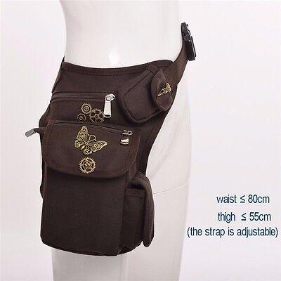 Victorian Punk Vintage Waist Bag Knight Leg Hip Packs Purse Rock Belt Bag Gift