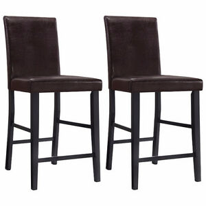 Oakley Transitional Faux Leather Parson's Counter Height Chairs