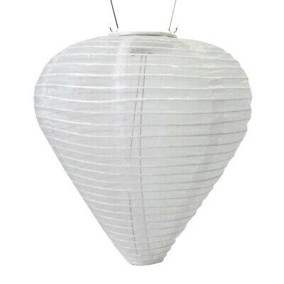 Soji – Silk Effects 12″ Teardrop Solar Lantern, - Solar Paper Lanterns