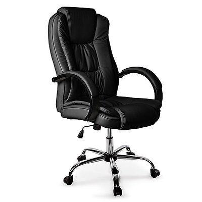 BIO Executive Office Chair Leather Computer PU Work Black Desk Ergonomic
