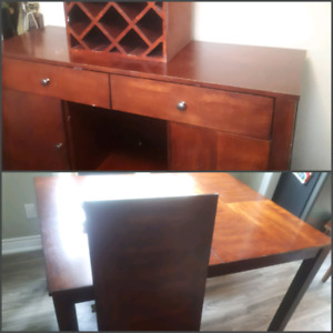 Dining table and server / buffet