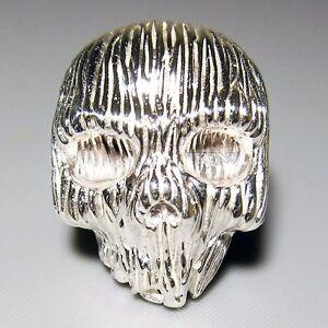 tribal skull 925 sterling silver custom mens ring rocker