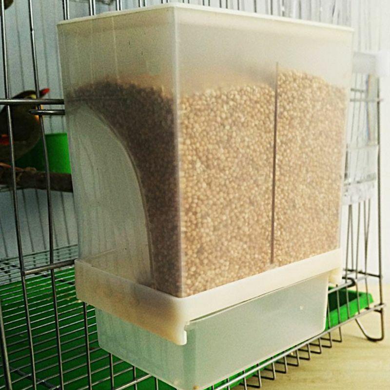 Automatic Chicken Bird Feeder Poultry Feeding Food Container Splashproof Storage