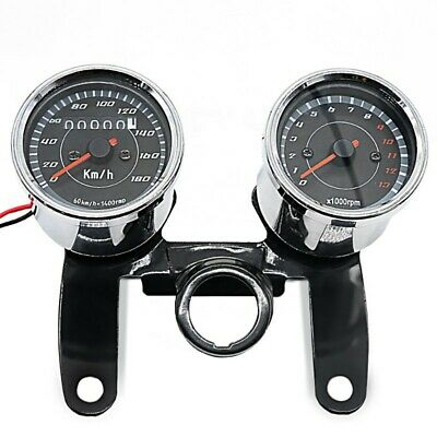MOTORCYCLE TACHOMETER SPEEDOMETER REV COUNTER ANALOG CRAFTRIDE CVT CHR