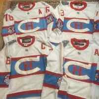 NEW STYLE LACE / WINTER CLASSIC-CANADIENS - $60ea - M to XXXL