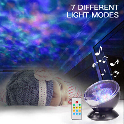Mini Plethora Waves LED Night Light Projector Lamp For Bedroom Living Room Party