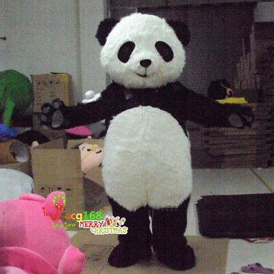 Panda Bear Mascot Costume Cosplay Adult Outfit Dress Parade Festival Animal - Adult Panda Suit