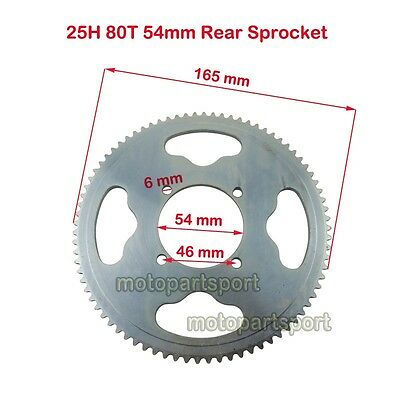 25H 80 Tooth 54mm Rear Sprocket For Dirt Bike XRF500 Razor MX350 MX400 Mini Moto