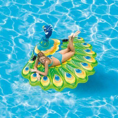 Isola Pavone gonfiabile galleggiante Intex 57250 cavalcabile piscina mare Rotex