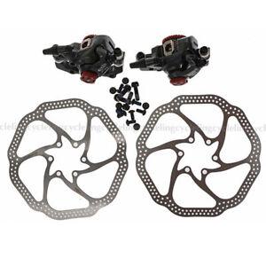 AVID BB7 MTB Bike Disc Brakes set Front & Rear Calipers with 160mm HS1 Rotors