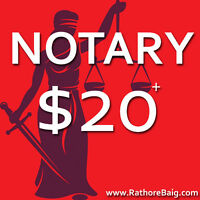 From $20 - NOTARY PUBLIC & COMMISSIONER OF OATHS - OPEN 6 Days!