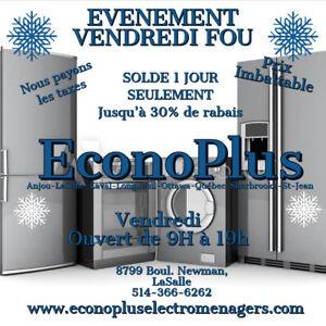 ECONOPLUS LIQUIDATION REFRIGERATEUR INOX A PARTIR DE 499$