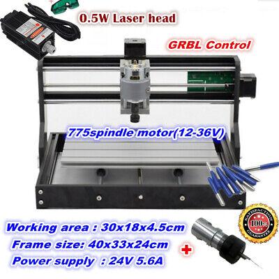 3018 Pro Grbl Control Diy Cnc Router Mini Engraving Machine500mw Laser Tube