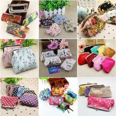 Retro Girls (Retro Women Girls Small Wallet Change Coin Purse Hasp Clutch Card Holder)