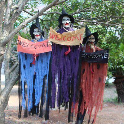 Halloween Horror Prop Elektrische Rot Augen Soundeffekt Hängende Skeleton Dekor (Halloween Horror Sounds Effekte)