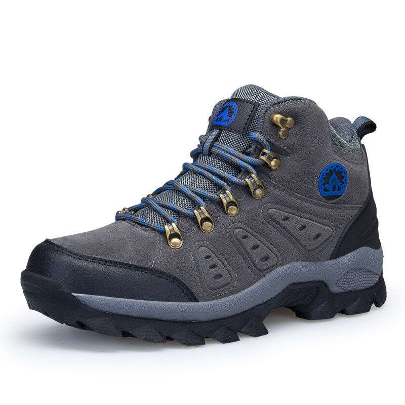 Men's waterproof lightweight leather winter outdoor tactical hiking boots shoes 1