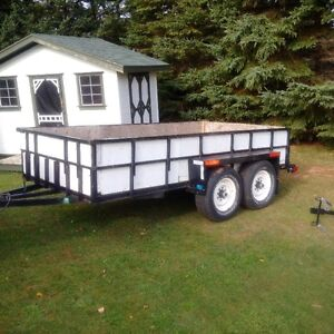 Double axle utility trailer 11x7