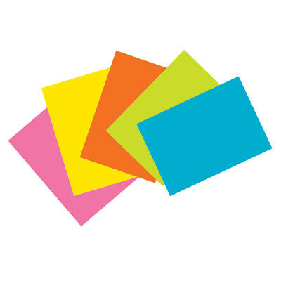 Index Cards 5 Super Bright Assorted Colors Unruled 4 X 6 100 Cards