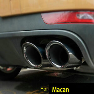 MACAN GTS Black Stainless Steel EXHAUST TIPS / Muffler Pipes
