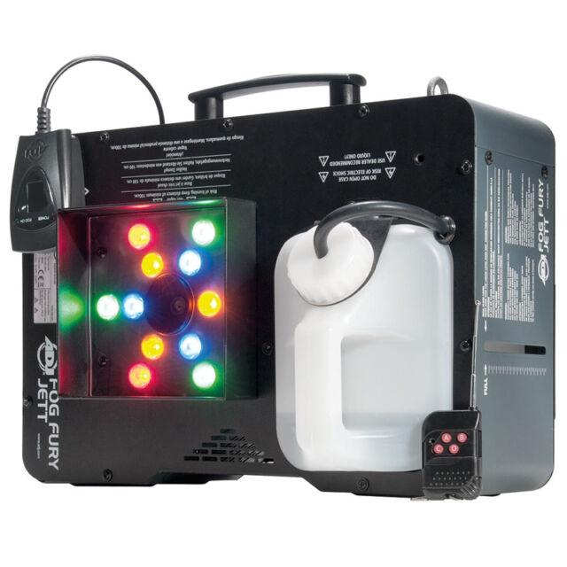 American DJ ADJ Fog Fury Jett Vertical Smoke Machine + 12 x LED Lights +  Remote