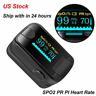 Ce Digital Oled Fingertip Pulse Oximeter Blood Oxygen Spo2 Pr Saturation Monitor