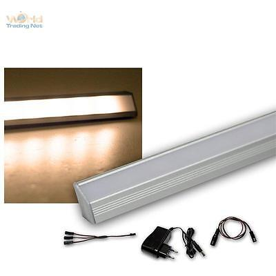3er Set LED Varilla Angular de Aluminio Blanco Cálido + Transformador Luz...