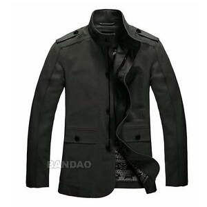 Cotton-mens-Jacket-Fashion-Slim-Coat-casual-clothes-outwear-Autumn-Winter-AGXL