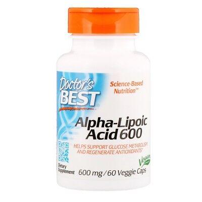 ALPHA LIPOIC ACID ALA - DOCTORS BEST  600 MGS  60 Caps HEALTHY ENERGY