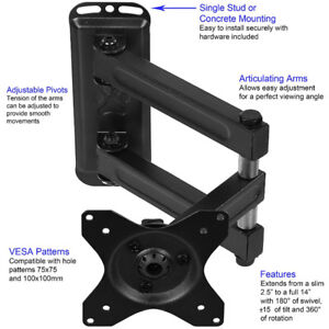 TV / Monitor wall mount. Up to VESA 100x100, 40lbs