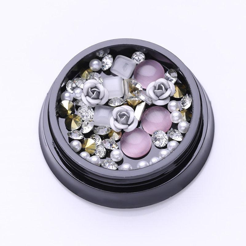 1Box White Rose Beads