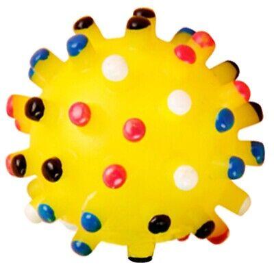 Chien de compagnie jaune boule en caoutchouc Grincer grincement jouet de jet T2
