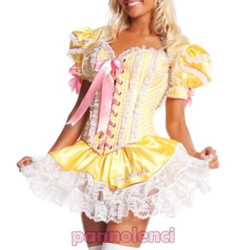 Costume donna vestito carnevale dama fata favole travestimento maschera DL-2061