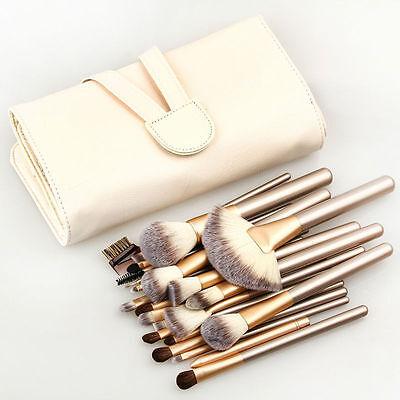 (24Pcs Pro Makeup Cosmetic Brush Set Powder Foundation Eyeshadow Lip  Brush)